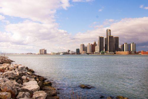 buildings in Detroit, Michigan