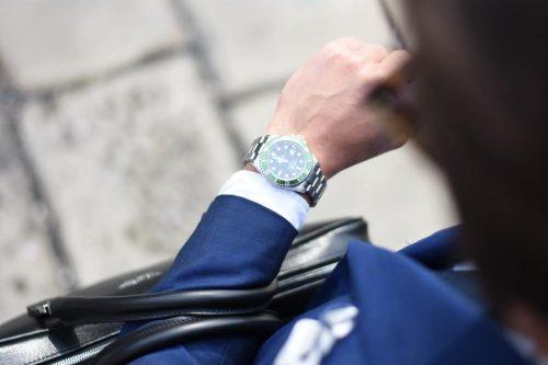Man Watching on Wristwatch